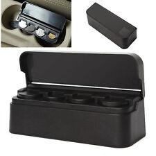Car Auto Storage Coin Money Holder Change Organizer Box Travel Piggy Bank Black