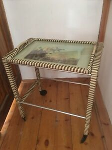 Vintage retro drinks trolley with castors Mid century with Vernon Ward picture