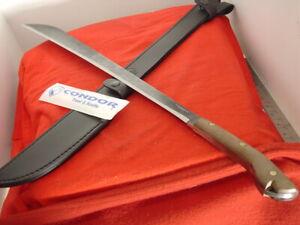 """Condor El Salvador 27-3/4"""" Big Fixed Blade Full Tang Machete Sheath Knife MINT"""