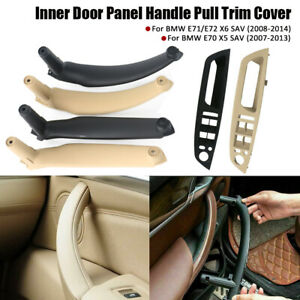 For BMW X5 X6 E70 Interior Right Left Inner Door Handle Panel Pull Tirm Cover