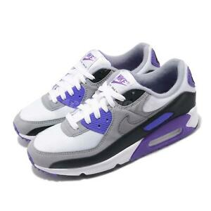 Nike Air Max 90 OG White Grey Hyper Grape Purple Mens Casual Shoes CD0881-104