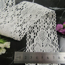 """WHITE / CREAM COTTON LACE TRIMMING """"58 TYPES"""" SEW ON EMBROIDERY SEWING UK SELLER"""