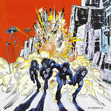 Jailbreak: Attack of the Tripods By Jim Fitzpatrick. Thin Lizzy, Album art 16x11