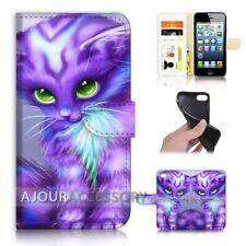 ( For iPhone 8 Plus ) Wallet Flip Case Cover AJ21199 Cartoon Cat