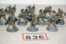 Warhammer 40k Eldar Aeldari Craftworlds Striking Scorpions & Exarch x 10 LOT 836
