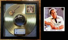 """GEORGE JONES GOLD RECORD """"He Stopped Lovin' Her Today""""  +  Hand-Signed 8 X 10"""