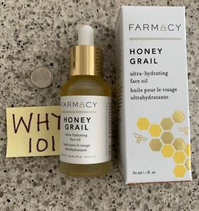 Farmacy HONEY GRAIL Ultra Hydrating Face Oil 1oz/30mL FULL Size; RET$48;  SEALED