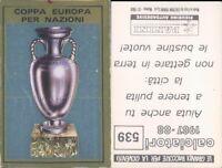 CALCIATORI PANINI 1987/88* FIGURINA STICKER N.539* COPPA EUROPA PER NAZIONI*NEW