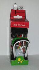 Rare SNOOPY'S TEE TIME * Joe Cool * Mini Golf Bag + Ball + Tees Peanuts - NEW