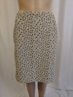 J Crew Womens Skirt Gray And Cream Color Leaves Knee Length Size 8
