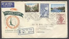AUSTRALIA Olympische Spiele Olympic Games 1956 R cover Main Stadium Press Torch