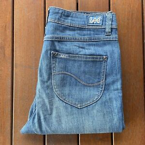 Lee Size 12 Blue Jeans Womens High Rize Supa Skinny Stretch Casual Denim