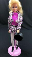 Vtg Mattel Barbie Boutique Fashion Avenue Collection Pink Leopard Outfit #14980