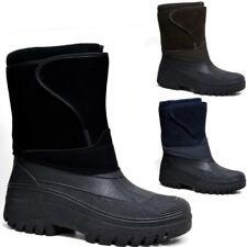 Para Hombre Botas De Nieve Invierno Impermeable Mucker térmica Wellingtons Piel Botas de Esquí 7 -12