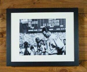 Lou Gehrig - 1939 Farewell Speech Yankee Stadium - 11 x 14 Framed Wall Hanging