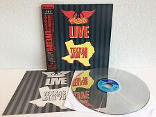 Aerosmith - Live | Texxas Jam '78 | Japan Laserdisc + Obi & Insert | Near Mint