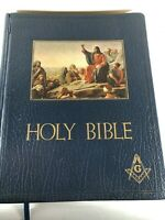 VINTAGE MASONIC BIBLE Large 1951 Unmarked VG w/ Biblical Index to FREEMASONRY