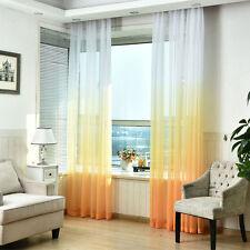 1pc Window Curtain Valances Tulle Voile Chiffon Door Drape Sheer Scarf Decor