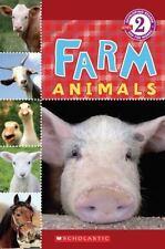 Scholastic Reader Level 2: Farm Animals, Cooper, Wade, Good Condition, Book