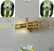 1 x Flange Sma female To Sma female connect 2 Sma Males Rf Connector Adapter Usa