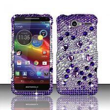 Motorola Electrify M XT901 Crystal Diamond BLING Case Phone Cover Purple Silver
