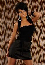 Party Club Formal Wear Modern Stylish Mini Dress UK size 8-10 - Black