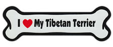 Dog Bone Shaped Car Magnets: I Love My Tibetan Terrier