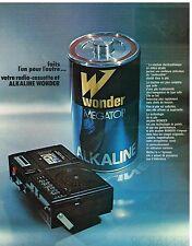 Publicité Advertising 1978 Les Piles Alkaline Wonder Megator
