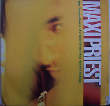 """MAXI PRIEST ~ Just Wanna Know / Fe Real feat APACHE INDIAN ~ 12"""" Single PS"""