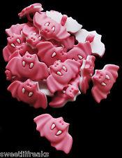 8 PINK BAT BUTTONS! GOTHIC HALLOWEEN GOTH VAMPIRE HORROR SCRAPBOOKING CRAFTS