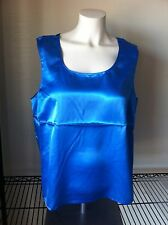 NEW Maurada Sleeveless Tank Top 16 Blue Silky Cami nwt ladies casual polyester