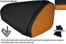 BLACK & ORANGE CUSTOM FITS KAWASAKI 08-10 ZX10 R NINJA 1000 REAR SEAT COVER