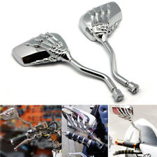 CHROME SKULL HAND REARVIEW MIRRORS FOR KAWASAKI VULCAN VN 750 800 900 1500 1600