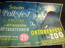 Berlin Volksfest Oktoberfest im ZOO Elefant Plakat Poster Werbung Affiche poster