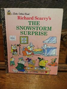 Little Golden Book Richard Scarry's The Snowstorm Surprise