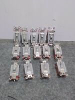 USED LOT OF 14 HUBBELL HBL1223 SWITCH TOGGLE SER 1200 3 WAY 20A 120-277VAC