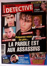 DETECTIVE du 3/09/2014; LA parole aux assassins/ Derniers instants de Lady Di
