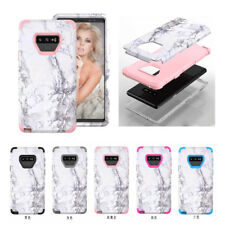 10pcs/lot White Marble Armor Tri-Layer Shockproof Hybrid Case For Samsung Note 9
