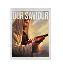 STICKER OUR SAVIOUR CARLTON DRAUGHT LONGNECK BEER BUMPER STICKER FREE POST