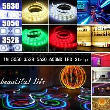 1M 60 LED 3528 5050 5630 SMD IP65 Etanche/Non Ruban Flexible Strip Multicolor NF