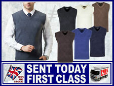 Medium Knit Sleeveless Acrylic Jumpers & Cardigans for Men