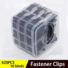 620 PCS  Plastic Car Body Push Pin Rivet Fasteners 16 kind Door Trim Panel Clips