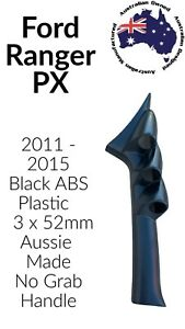 3 GAUGE PILLAR POD TO SUIT FORD PX RANGER 2011 - 2015 52MM Black ABS
