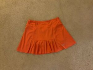 Nike Dri Fit Women's Orange Tennis Skirt - Size S