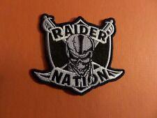 "OAKLAND RAIDERS ""RAIDER NATION"" NFL IRON ON 2-3/4 X 3 PATCH"