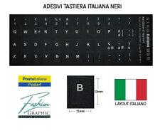 Adesivi Lettere Per Tastiera Italiana Neri Da Notebook Pc Computer Stickers