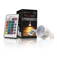 AURAGLOW Remote Control Colour Changing 6w LED Dimmable Light Bulb - GU10