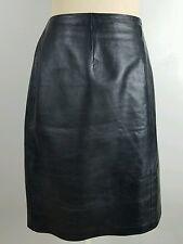 INC international concepts Woman Plus size 18 Black Leather Pencil Skirt Career