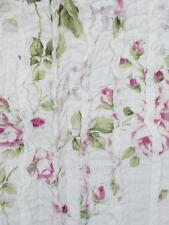 Shabby French Country Chic Pink Roses Rag Sofa Couch Throw Bed Quilt & Cushion