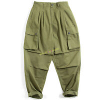 Workwear Vintage Big Pocket Harem Pants Baggy Trousers Men's Cargo Pants Army